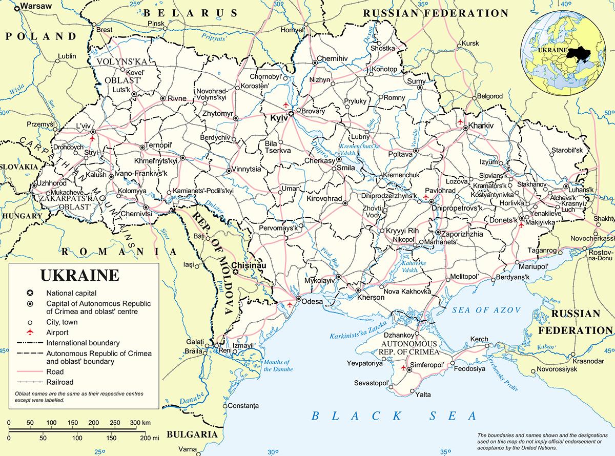Beautiful Ukraine Map 49